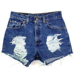 Vintage Levi's 505 High Rise Cut Off Shorts